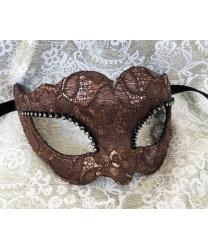 Карнавальная маска Ricoperta, коричневая