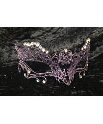 Карнавальная маска с фиолетовыми блестками