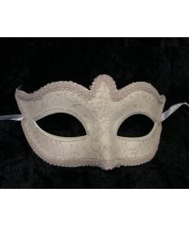 Карнавальная маска Passamaneria, кремовая