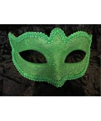 Карнавальная маска Passamaneria, зеленая