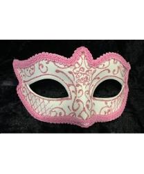 Карнавальная маска Passamaneria с розовым узором