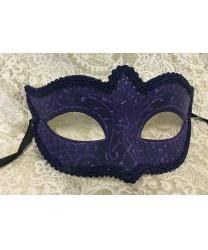 Карнавальная маска Passamaneria, фиолетовая