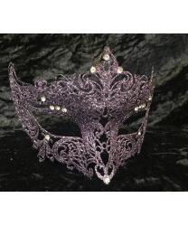 Венецианская сиреневая маска GIGLIETTO с блестками