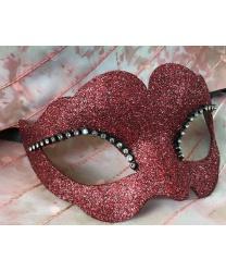 Блестящая венецианская маска (красная)