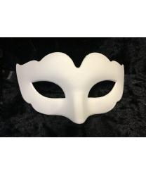 Карнавальная белая маска-основа, детская