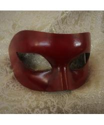 Карнавальная маска цвет красное дерево
