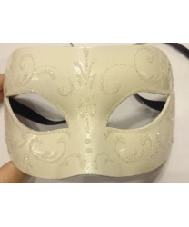 Белая маска с блестящим узором - Маски, арт: 8773