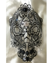 Маска ажурного черепа из металла - Маски, арт: 8804