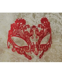 Красная карнавальная маска , металл, стразы (Италия)