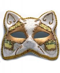 "Венецианская маска ""Кот"" с нотами"