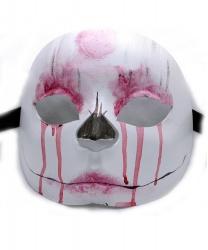 Полумаска окровавленный череп (женская)