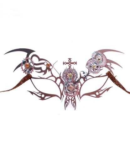 Металлическая маска Steampunk, металл (Италия)