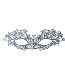 Серебряная кружевная маска