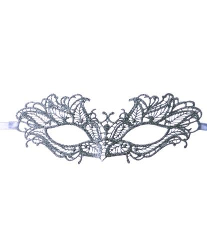 Серебряная кружевная маска , кружево (Италия)