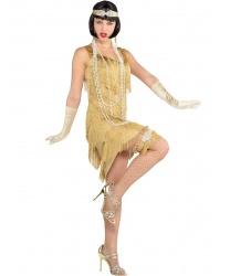Золотое платье в стиле 20-30 годов