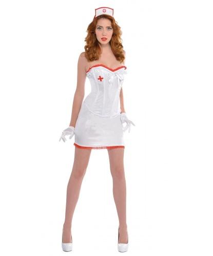 Костюм медсестры: юбка, корсет, головной убор, перчатки (Германия)