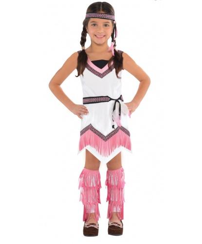 Костюм маленькой индианки: платье, повязка на голову, накладки на ноги (Германия)