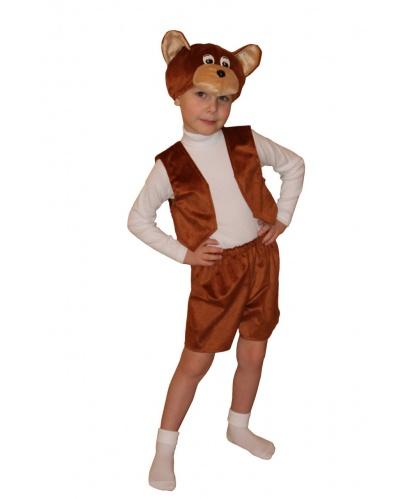 Детский костюм Мишка: головной убор, жилетка, шорты (Россия)