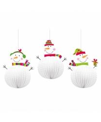 Подвесные снеговики - Декорации на новый год, арт: 8903