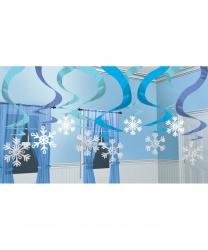 """Декорация на Новый год """"Подвесные снежинки"""