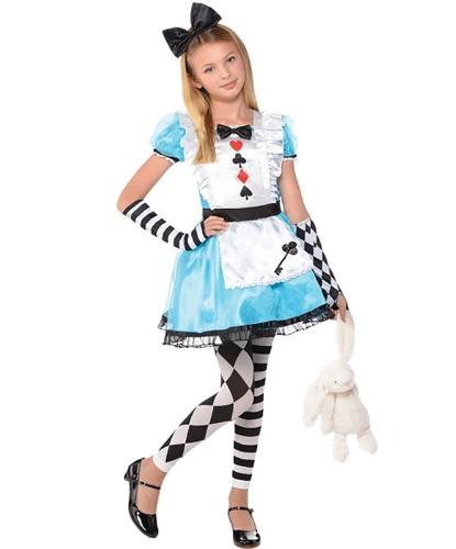 Костюм маленькой Алисы: платье, леггинсы, бант на голову, перчатки (Германия)