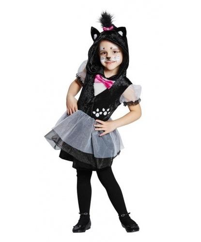 Детский костюм черной кошки: платье (Германия)