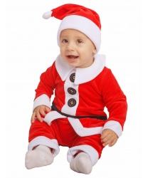 Костюм Санта-Клауса для малыша: комбинезон, колпак (Россия)