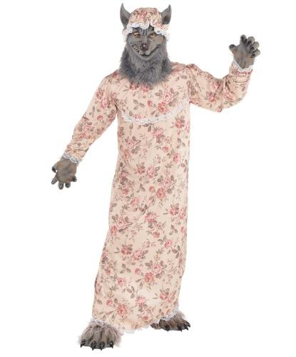 Костюм волка из красной Шапочки : ночная сорочка, маска с чепчиком, лапы на ноги и на руки (Германия)