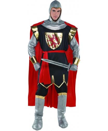 Костюм средневекового рыцаря: туника, накидка, головной убор, имитация сапог, перчатки (Германия)