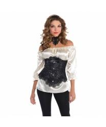Черный кружевной корсет - Все женские костюмы, арт: 9002