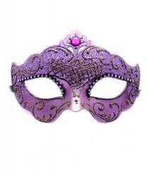 Пурпурная венецианская маска с блестящим узором