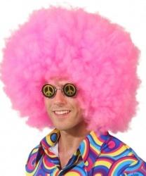 Розовый афро-парик