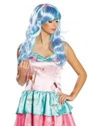 Розово-голубой парик
