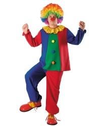 Взрослый костюм клоуна: брюки, рубашка (Польша)