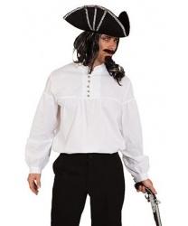 Мужская пиратская рубашка с пуговицами