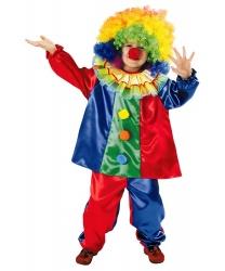 Детский костюм веселого клоуна: кофта, штаны (Польша)