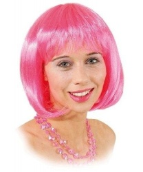 Парик каре розовый - Парики, арт: 9053