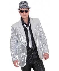 Серебряный блестящий пиджак: пиджак (Германия)
