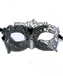 Серебряная венецианская маска