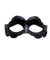 Черная маска с блестящим узором