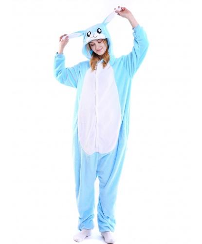 Кигуруми голубой кролик: комбинезон с капюшоном (Китай)