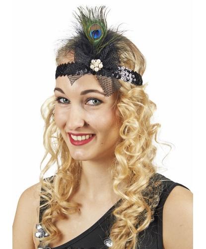 Повязка на голову с павлиньим пером: (Германия)