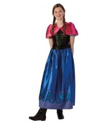 Подростковый костюм Анны (Холодное сердце): платье, накидка (Германия)