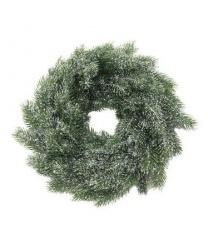 Рождественский венок со снегом