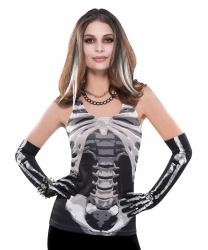 Женская майка  Скелет  - Все женские костюмы, арт: 9122