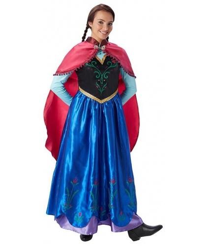 Взрослый костюм Анны (Холодное сердце): платье, накидка (Германия)