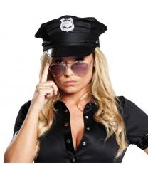 Черная полицейская фуражка