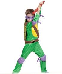 Костюм черепашки Донателло: куртка, брюки, маска, налокотники, наколенники, шест(оружие), панцирь (Россия)