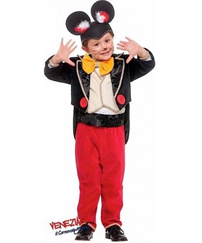 Детский костюм Микки-Мауса: фрак, брюки, жилет, рубашка, пояс, головной убор, бант, (Италия)