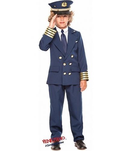 Детский костюм пилота: фуражка, пиджак, рубашка, брюки (Италия)